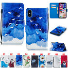 Dog Cat Card Wallet Leather Flip Case Cover Stand For iPhone 5S 6 6S 7 8 Plus X