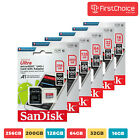 SanDisk Ultra 16GB 32GB 64GB 128GB Micro SD C10 SDHC SDXC Flash Memory card TF