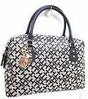 TOMMY HILFIGER Handbag *Black Multicolor Satchel Tote Purse New