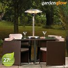 Garden Glow Patio Heater 2.1KW Electric Table Top Outdoor Steel Fire Heating NEW