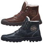 Palladium Mens Shoes Pampa Hi Leather S Wool Lined Lace Up Walking Ankle Boots