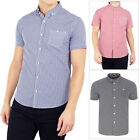 Brave Soul Mens Clement Gingham Check Print Cotton Casual Short Sleeved Shirt