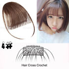Super Thin Air Bangs Fringe Clip In Remy Human Hair Extensions Hairpiece US Y089