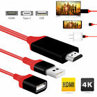 For Samsung Galaxy S10 iphone XS Type-C USB-C to HDMI HDTV HD 4K Cable Adapter