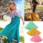 Kid Baby Girl Pageant Princess Party Holiday Pageant Maxi Long Solid Dress Skirt