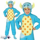 Childs Kids Boys Girls Little Blue Monster Halloween Fancy Dress Costume Outfit