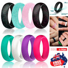 Silicone Rubber Ring 5.5 Width Band Flexible Comfortable Safe Work Sport Gym 1pc