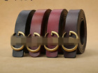 Women's Genuine Leather Belts Jeans Belt With Letter GG Buckle wide 2.8cm Gift