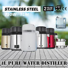 Pure Water Distiller Water Purifier 4L Water Filter Countertop Stainless Steel