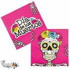 Halloween Mexican Day Of The Dead Festival Sugar Skull 33cm Paper Party Napkins