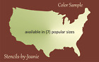 Joanie Stencil US United States Country Map Outline FREE Template Shape America