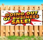 GOING OUT OF BUSINESS SALE Advertising Vinyl Banner Flag Sign Many Sizes