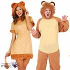 Adults Couples Lion Jungle Zoo Animal King Fancy Dress Costume Book Week Outfit