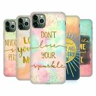 HEAD CASE DESIGNS GOLD QUOTES SOFT GEL CASE FOR APPLE iPHONE PHONES