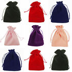 10 20 50 Velvet Bags Jewelry Wedding Party Favour Gift Drawstring Pouches 7 Size