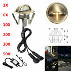 6/10/20/30/50X 12V Bronze Half Moon Outdoor Path LED Deck Rail Stair Step Lights