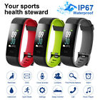 ID115C Bluetooth Smart Watch Bracelet HR Monitor Pedometer Step Calorie Counter