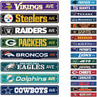 "New NFL Pick your Teams Home Room Bar Office Decor AVE Street Sign 4"" x 24"" $12.5 USD on eBay"