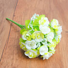 10 Heads Silk Rose Artificial Flowers Fake Bouquet Buch Wedding Home Party Decor