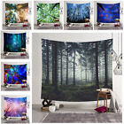 Внешний вид - Wall Tapestry Bedroom Decor Polyester Forest 3D Digital Printing Hanging Cloth