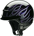 Z1R Adult Black/Purple Nomad Hellfire Half Motorcycle Helmet 2017