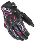 Joe Rocket Womens Pink/White/Black Cyntek Eye Candy Textile Motorcycle Gloves