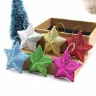 6xChristmas Decorations Glitter Snowflakes Xmas Tree Sparkle Hanging Ornaments