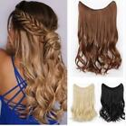 "15"" Long Halo No Clip Easy Wear Invisible Filp On Real human hair extensions"