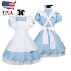 US Stock Adult Girl Alice in Wonderland Costume French Maid