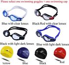 High quality swimming goggles & Silicone Swimming Cap one size fit all
