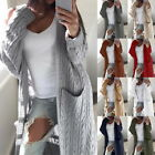 Fashion Womens' Thin Cardigan Jumper Tops Long Sleeve Knitted Long Sweatercoat