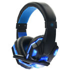 3.5mm Microphone Gaming Headset Mic RED Black LED Headphones For PC Laptop .