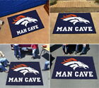 Denver Broncos Man Cave Area Rug Choose Starter, Allstar, Tailgater or Ultimat on eBay
