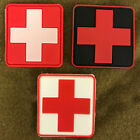 NEW PVC MEDICAL FIRST AID PATCH VELCRO® BRAND HOOK,RED WHITE BLACK,EMT,RESPONDER
