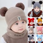 Внешний вид - Toddler Kids Girl&Boy Baby Infant Winter Crochet Knit Hat Beanie Cap With Scarf