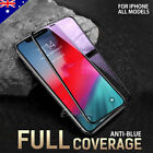 2X Apple iPhone XS Max XR X 6D Full Cover Screen Protector Tempered Glass Black