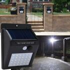 30 LED Path Lights Solar Motion Sensor SECURITY Outdoor Garden Yard Wall Lights