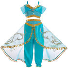 For Princess Jasmine Dresses Aladdin Kids Girls Costumes Womens Cosplay Outfit
