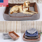 US  Pet Bed Dog Cat Crate Mat Soft Warm Pad Liner Home Indoor Outdoor Supply