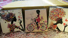 Whimsical Girl Wooden Trinket Box - Bicycle..Tea..Butterfly..Pick Yours