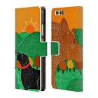 OFFICIAL STEPHEN HUNECK DOG'S FRIENDS LEATHER BOOK WALLET CASE FOR HUAWEI PHONES