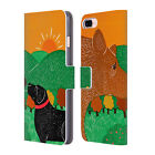 OFFICIAL STEPHEN HUNECK DOG'S FRIENDS LEATHER BOOK CASE FOR APPLE iPHONE PHONES
