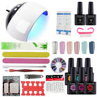 6Pc Gel Polish Manicure Kit 24W Lamp With Timer 60/90/120s N
