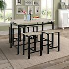 5PCS Counter Height Pub Table Set Dining Table with 4 Chairs Home Dining Sets