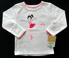 NWT New Carter's Infant Off-White Pink Ballerina Dancer Long Sleeve Shirt 12 Mos