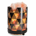 INVITING HOMES Natural Himalayan Salt Lamp in Clear Glass Holder Dimmable Switch