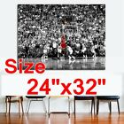 "Michael Jordan Giant Poster Huge Print Canvas Picture Paint Wall Art 36""x28"""