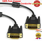 LCD Digital Monitor DVI D To DVI-D Gold Male 24+1 Pin Dual Link TV Cable For TFT