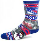 New York Rangers Hockey Ugly Holiday Socks with Snowman on Foot $10.99 USD on eBay