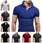 Men's Slim Fit Pol Shirts Short Sleeve Casual Gol T-Shirt Jersey Tops Tee image